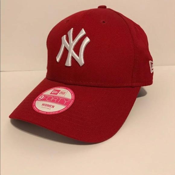 b820dc0443898 New York Yankees Cap Women s Red White